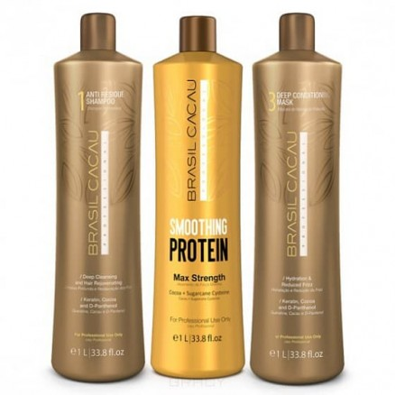 Cadiveu Brasil Cacau Smoothing Protein набор 980/1000/980 мл