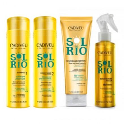Cadiveu Sol Do Rio набор для восстановления волос 250/250/250/215 мл