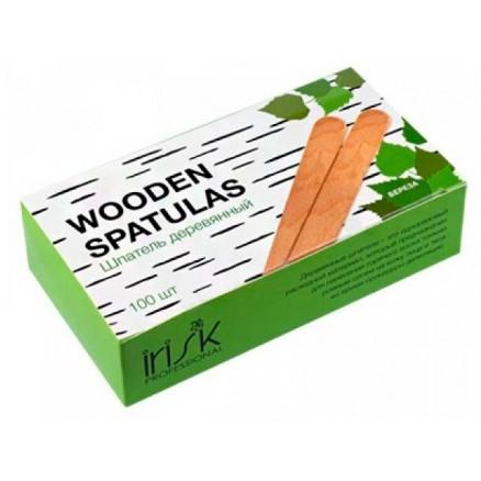 Шпатель деревянный IRISK, в коробке, 150х18х1,5, 100 шт/уп