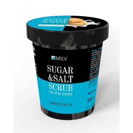 Сахарно-солевой скраб для тела Milv, Печенье, 250 г