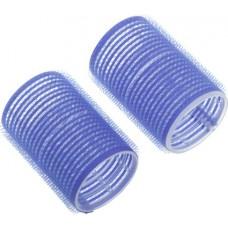 Бигуди-липучки DEWAL, синие, d16 мм, 12 шт/уп