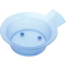 Чаша для краски DEWAL, голубая, с ручкой, с резинкой на дне 300 мл