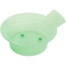 Чаша для краски DEWAL, зеленая, с ручкой, с резинкой на дне 300 мл