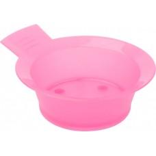 Чаша для краски DEWAL, розовая, с ручкой, с резинкой на дне 300 мл