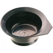 Чаша для краски DEWAL,черная, с ручкой, с резинкой на дне 260 мл