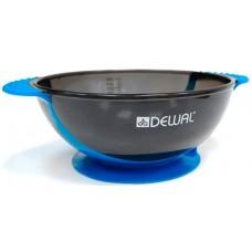 Чаша для краски DEWAL, синяя, с двумя ручками с прорезиненной вставкой 300 мл