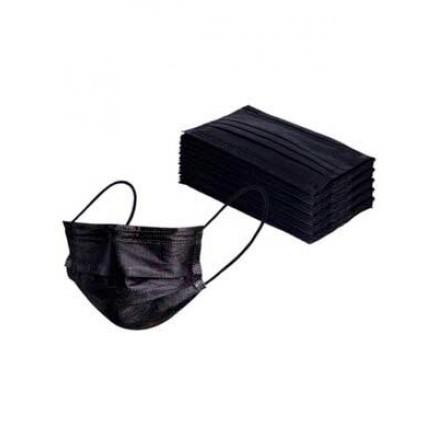 Маска медицинская 3-х слойная, черная, 50 шт/уп