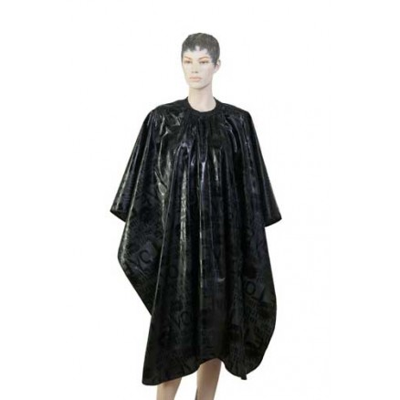 """Пеньюар для стрижки DEWAL, """"Love"""", нейлон, черный, 138x150 см, на крючках"""