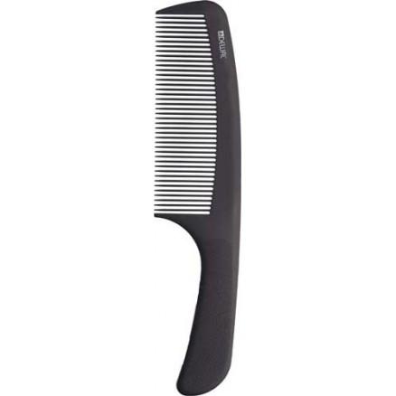 Расческа рабочая DEWAL, серия Super Thin с ручкой, широкая, черная 20,5 см