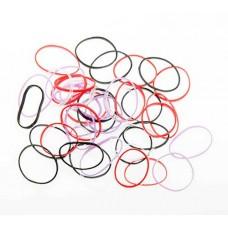 Резинки для волос Dewal Beauty, силиконовые, цветные, mini 50 шт/уп