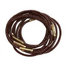 Резинки для волос DEWAL, с серебристой нитью, коричневые, midi 10 шт/уп