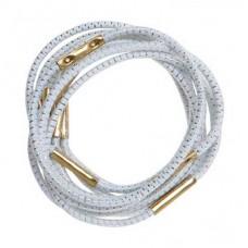 Резинки для волос DEWAL, с серебристой нитью, белые, midi 10 шт/уп