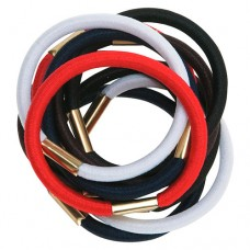 Резинки для волос DEWAL, цветные, maxi 10 шт/уп