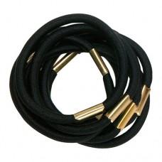 Резинки для волос DEWAL, черные, maxi 10 шт/уп