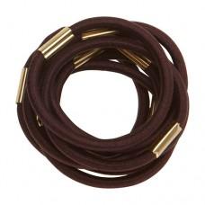 Резинки для волос DEWAL, коричневые, maxi 10 шт/уп