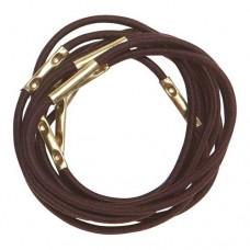 Резинки для волос DEWAL, коричневые, midi 10 шт/уп
