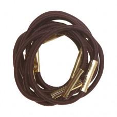 Резинки для волос DEWAL, коричневые, mini 10 шт/уп