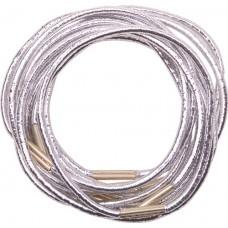 Резинки для волос DEWAL, серебристые, midi 10 шт/уп
