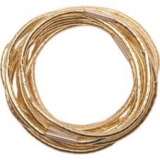 Резинки для волос DEWAL, золотистые, midi 10 шт/уп