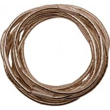 Резинки для волос DEWAL, блестящие, коричневые, midi 10 шт/уп