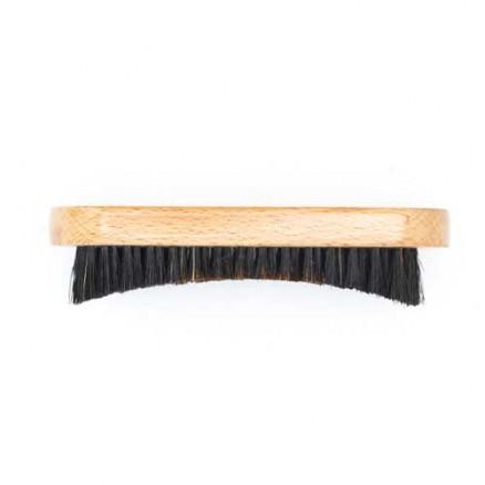Щетка для укладки бороды DEWAL, серия Barber Style, натуральная щетина, 9-рядная