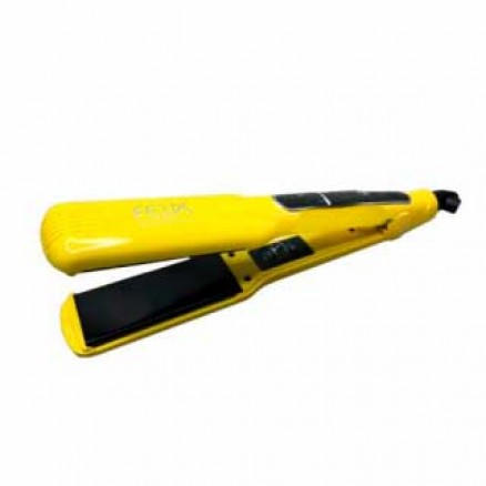 Профессиональный выпрямитель Felps Fun Kor утюжок, цвет: желтый, широкие пластины