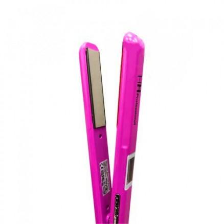 Профессиональный выпрямитель HH Ultrasonic & Infrared узкие пластины, цвет: фиолетово-розовый