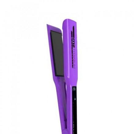 Профессиональный выпрямитель MZ titanium 1068R, цвет: фиолетовый, широкие пластины