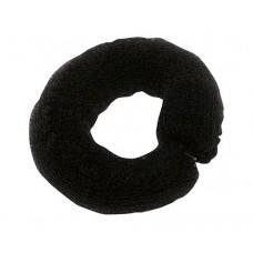 Валик для прически DEWAL, сетка с кнопкой, черный, 25 см
