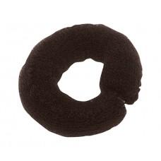 Валик для прически DEWAL, сетка с кнопкой, коричневый, 25 см