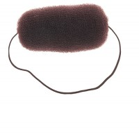 Валик для прически DEWAL, сетка с резинкой, коричневый, 12 см