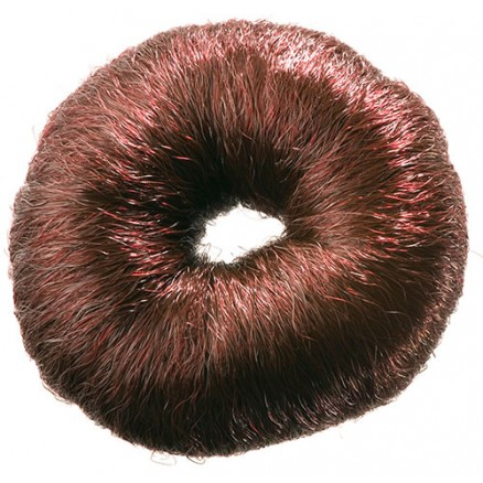 Валик для прически DEWAL, искусственный волос, коричневый, d8 см