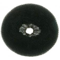 Валик для прически DEWAL, сетка,черный, d14 см