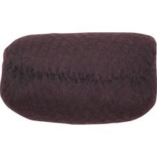 Валик для прически DEWAL, искусственный волос + сетка, темно-коричневый, 18х11 см