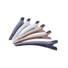 Зажим для волос DEWAL, карбон. цветной, 12 см 6 шт/уп