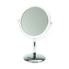 Зеркало настольное DEWAL, пластик, серебристое 15x21,5 см