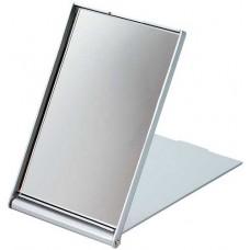 Зеркало косметическое DEWAL, пластик, серебристое, складное 7,5х 5 см