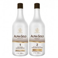 Alpha Gold keratin