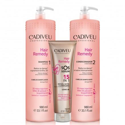 Cadiveu Hair Remedy набор профессиональный 980/980/150 мл