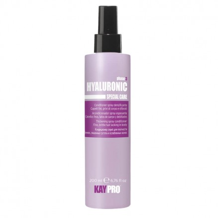 Кондиционер-спрей с гиалуроновой кислотой KayPro, для плотности волос, серия Hyaluronic, 200 мл