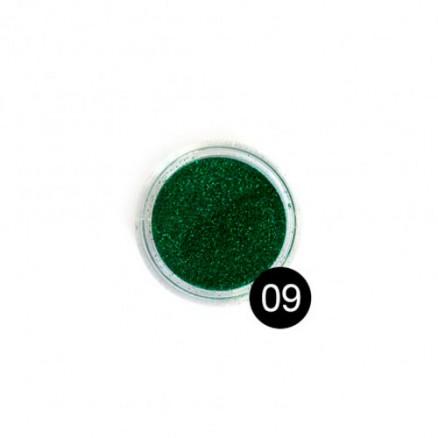 Блестки TNL, №09 изумрудный, 2,5 гр