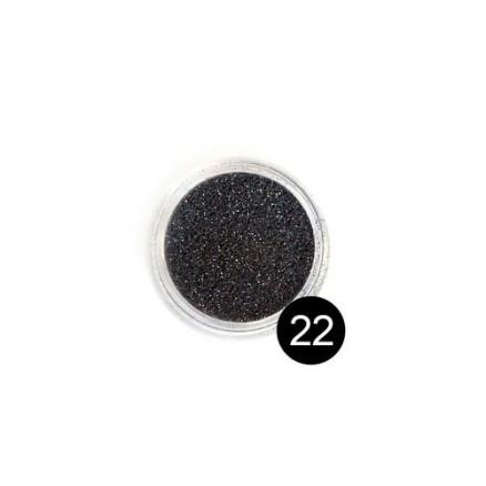 Блестки TNL, №22 черный, 2,5 гр