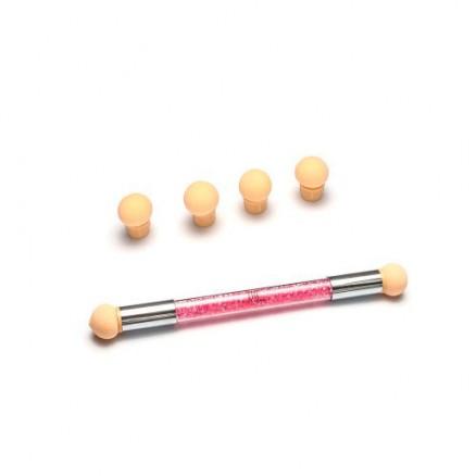Аэропуффинг-аппликатор для градиента TNL, с розовыми кристаллами