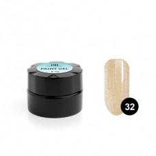 Гель-краска TNL, для дизайна ногтей, №32 золотой песок, 8 мл