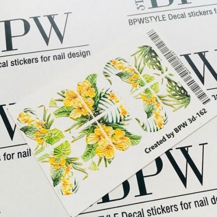 3D Слайдер-дизайн, тропические цветы, 3D162
