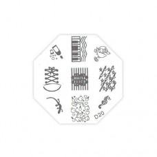 Трафарет металлический для стемпинга TNL, D-20