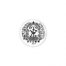 Трафарет для стемпинга TNL, металлический, малый, рис. фонтан, в индив. упаковке