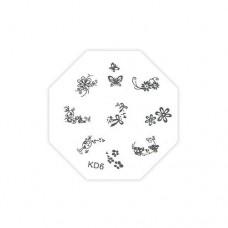 Трафарет металлический для стемпинга TNL, KD-06