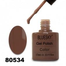 Гель-лак BlueSky, серо-коричневый, 80534, 10 мл