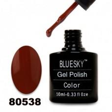Гель-лак BlueSky, темно-коричневый, эмалевый, 80538, 10 мл
